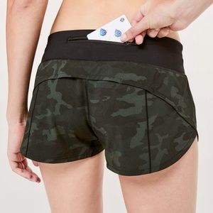 """{lululemon} Speed Up Shorts 2.5"""" in Incognito Camo"""